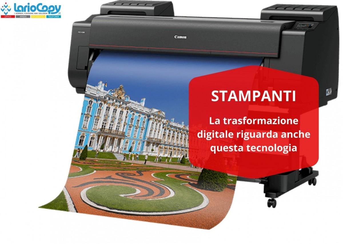 La trasformazione digitale riguarda anche le stampanti